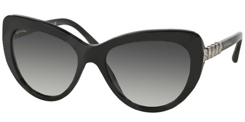 9808db8e39 Be the cat s meow in this pair of attractive cat-eye sunglasses by Bvlgari.  These frames are sure to brighten every face and add a dash of brainy ...